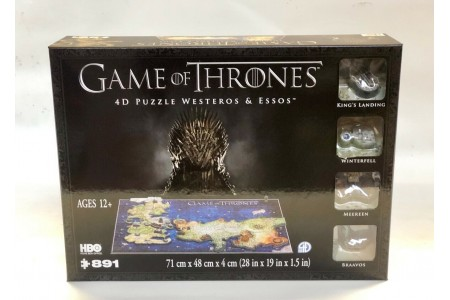 Game of Thrones 4D Cityscape Puzzle of Westeros & Essos 891 PCS Poster Included