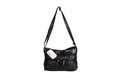 Ladies Nicole Brown Single Strap Shoulder Bag BLACK JBHB2545