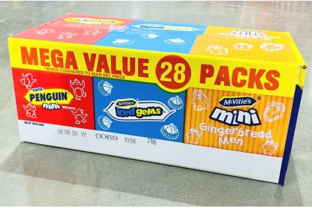 McVities Minis Gingerbread Iced Gems Penguin Biscuit Cookie Mix Box of 28 Packs