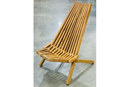 Clevermade Wooden Tamarack Folding Seat Ergonomic Chair (Single)