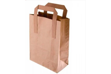 "Dura Kraft Brown SOS Paper Bag Medium Box 250 Bags Size 8.5"" x 10"" x 4.3"""