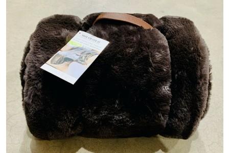 Mon Chateau Faux Fur Throw Mocha Brown 152 x 177cm