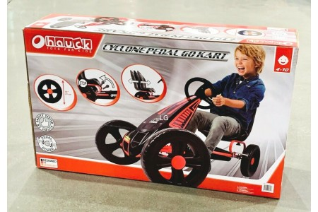Hauck Cyclone Go Kart Ride On Pedal Car Kids Gokart Pedaling Cart 4 - 10 Years