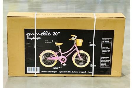 Emmelle 20 Inch Girls Heritage Snapdragon Bike in Pink/Biscuit