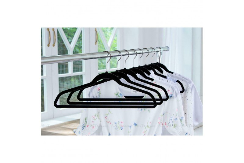 50 x Hangers Flocked Strong Non-Slip Space Saving Clothes Hanger
