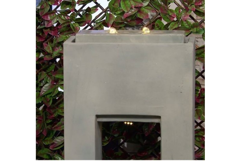 Garden Reflections Contemporary Water Fountain with LED Lights & 10m Cable