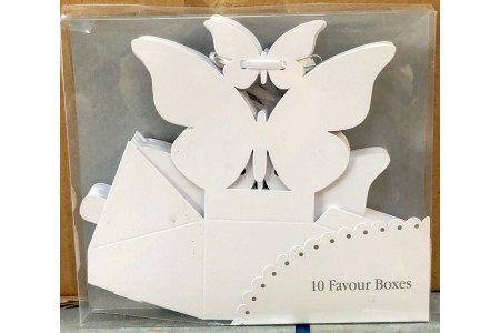 Butterfly Favour Box Pack of 10 White Talking Tables Wedding Party