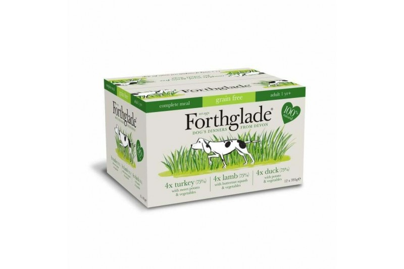 Forthglade Complete Meal Adult Multicase Turkey Lamb & Duck Grain Free 12 x 395g