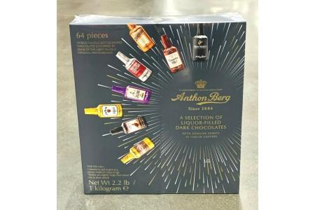 Anthon Berg Dark Chocolate Liqueurs Original Spirits 64 Pcs 1kg BBE JAN 21