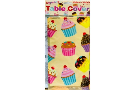 Cupcake Plastic Table Cover 180 x 120cm Party Tablecloth Party