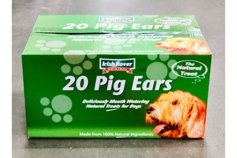 Irish Rover Original Dog Treats 20 Pig Ears