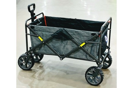 Folding 4 Wheel Wagon Trolley Barrow Foldable Collapsible Cart Mac Sports