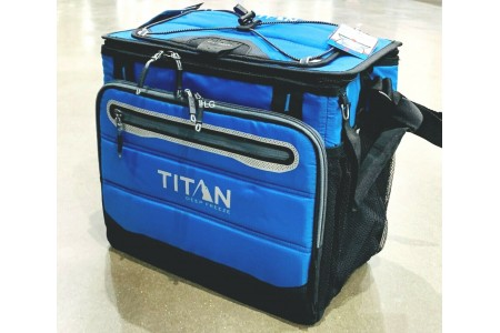 Cool Bag Titan Deep Freeze 40 Can Collapsible Cooler Bag Blue Summer Camping
