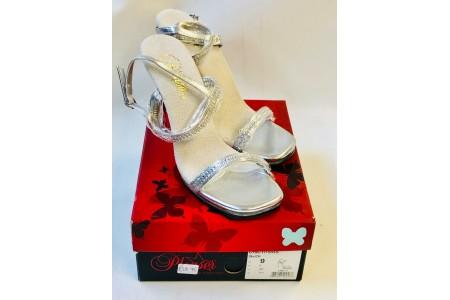 Pleaser CHIC17/S/RS Sandal Open Toe High Heel Club Wear Shoe Silver Size 6