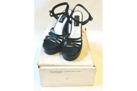 "Demonia Dolly 25 Chunky 5"" Heel Ankle Strap Platform Sandal USA 10 UK 7"