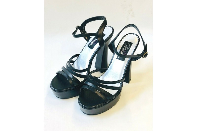 "Demonia Dolly 25 Chunky 5"" Heel Ankle Strap Platform Sandal USA 10 UK 7"