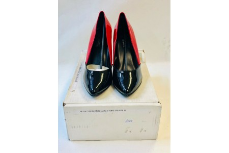 """Pleaser SED 423 Red on Black 2 Tone Court Shoe 5"""" Heel Size 9 US 11"""