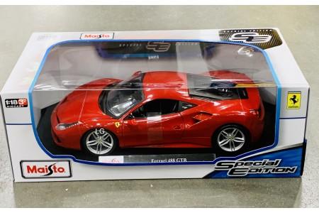 Maisto 1:18 Special Edition Diecast Model Car Ferrari 488 GTB Red