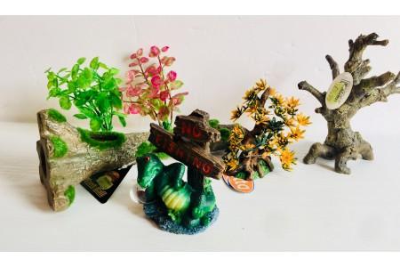 Fish tank Ornament Aquarium Bundle 3