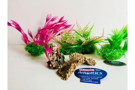 Fish tank Ornament Aquarium Bundle 6