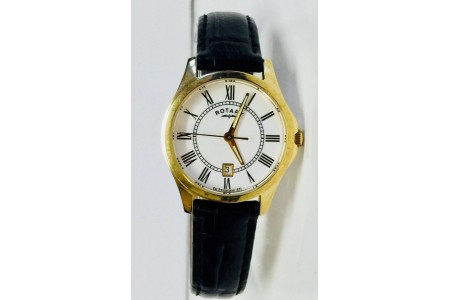 Rotary LS02794/01 Ladies' Gold Tone Watch With Date Display NEW NO BOX