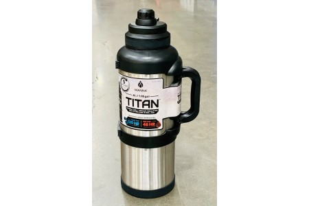 Manna Titan Stainless Steel Vacuum Insulated Jug Flask Silver 4l Keeps Hot 48hrs