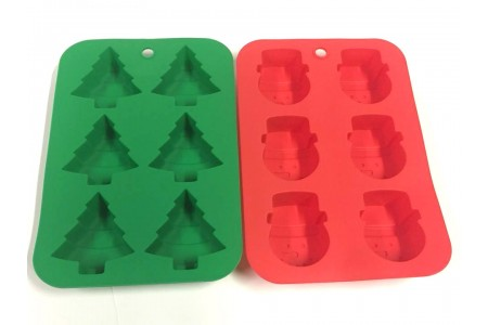 Silicone Christmas Baking Moulds