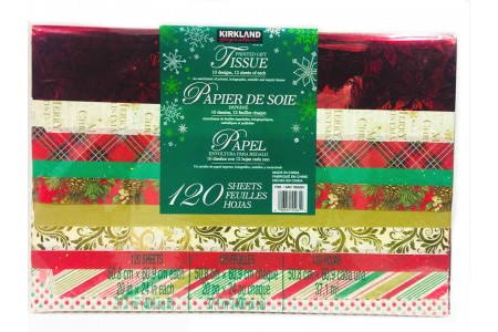 120 Sheets Christmas Gift Tissue Paper Red/Green Theme
