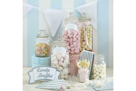 Candy Bar Kit for Weddings Parties 3x Scoops 25x Bags 1x Sign 3x Tags Ginger Ray