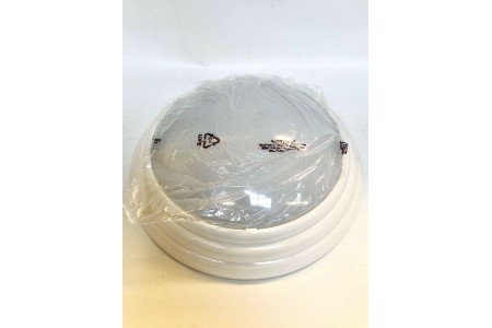 Dome Ceiling Light White Apollo AD/WL716 16W Bulb Included