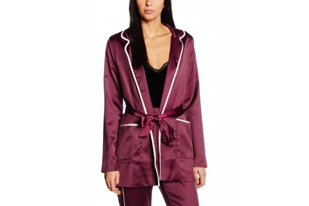 Boohoo Boutique Satin Trim Pyjama Jacket