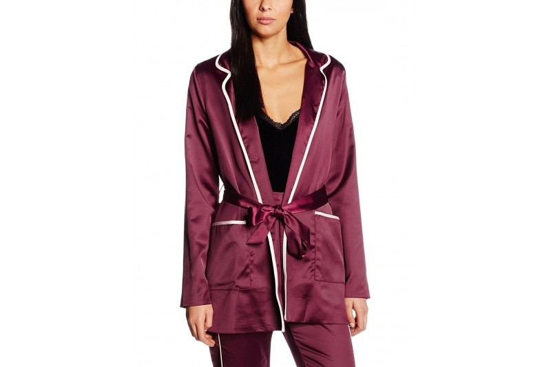 Boohoo Boutique Satin Trim Pyjama Jacket