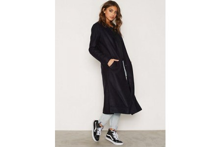New Look Bar Back Side Split Maxi Coat