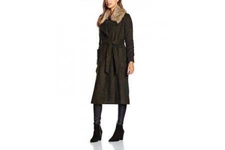New Look Belted Maxi Longline Coat Khaki