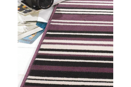 Canterbury Stripe - Purple Black Rug