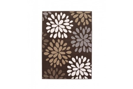 Floral Burst Chocolate Rug