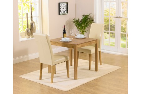 Oxford Furniture 80cm Solid Oak Dining Table