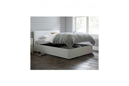 Seville Ottoman Double Faux Leather Bed