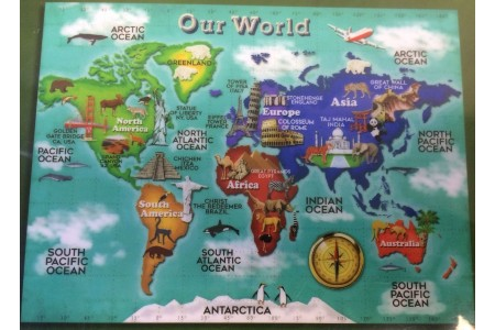 Smithsonian Educational Rug - Our World Map