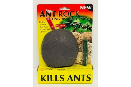Ant Rock Universal Bait Station, Destroys Ants and Nests, Safe for Pets