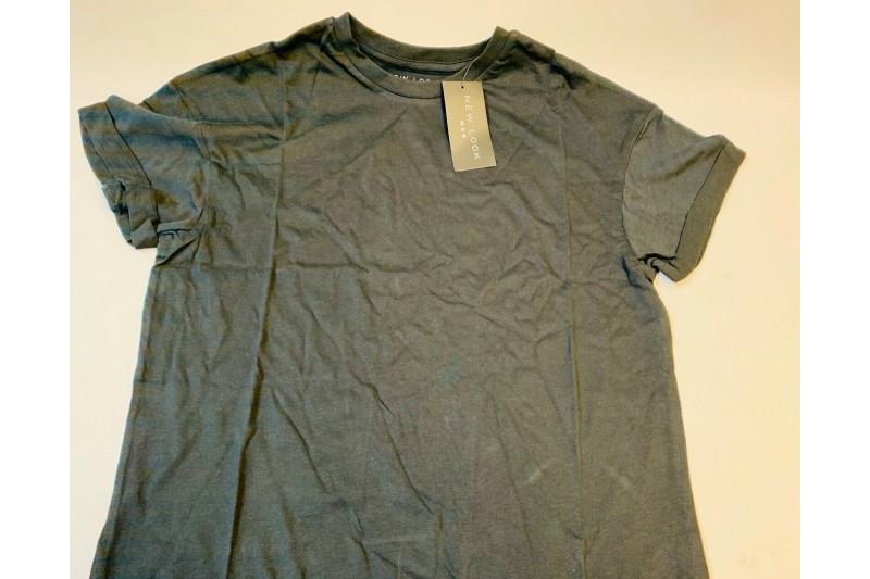 New Look Basic High Roll Man T-Shirt Black Small