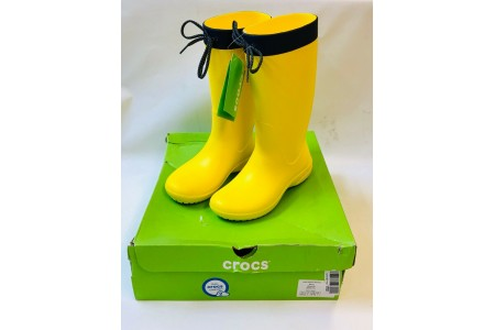 Crocs Womens Freesail Rain Boots dual Comfort Wellingtons Welly SIZE US 3