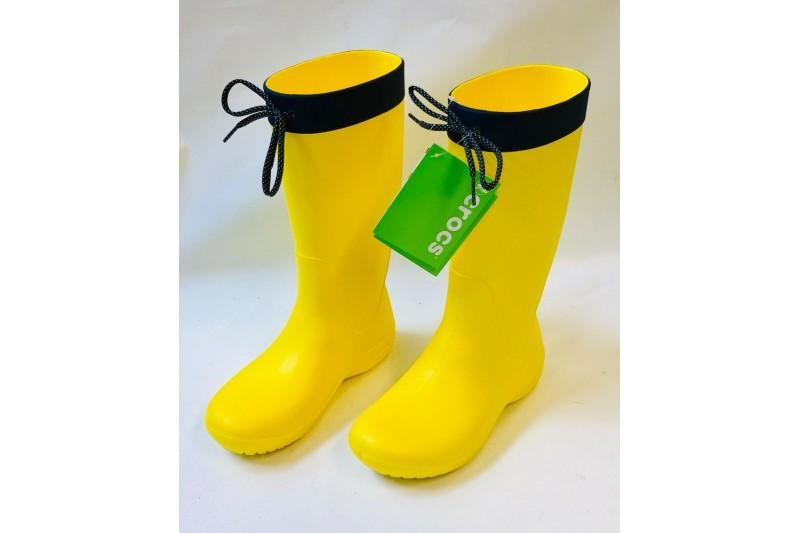 Crocs Womens Freesail Rain Boots dual Comfort Wellingtons Welly SIZE US 3