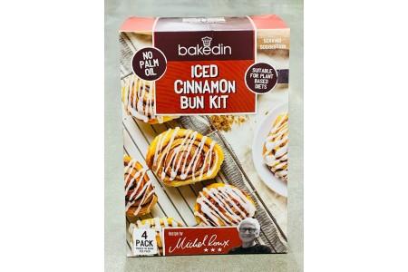 Bakedin Iced Cinnamon Bun Kit 4 Pack Box Makes 10 Per Pack