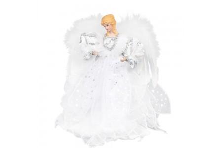 Angel White Fabric Christmas Tree Topper