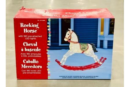 "Glitter String 180 LED Rocking Horse 58"" 4ft 8"" (1.4m) Christmas Decoration"