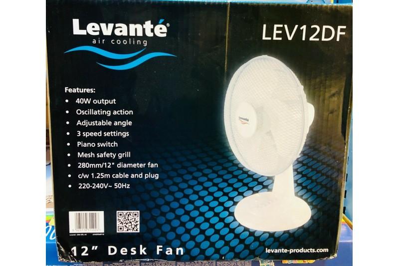 Desk Fan Levante 12 Inch Levante Desk Top Fans (LEV12DF)