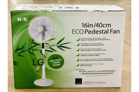 Pedestal Fan with Remote Control & Timer SFDC-4091RC NSA Eco 40cm Energy Saving