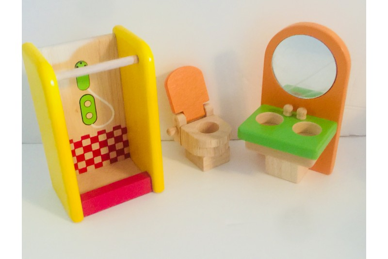 Doll House Wooden Furniture Shower Room 95744