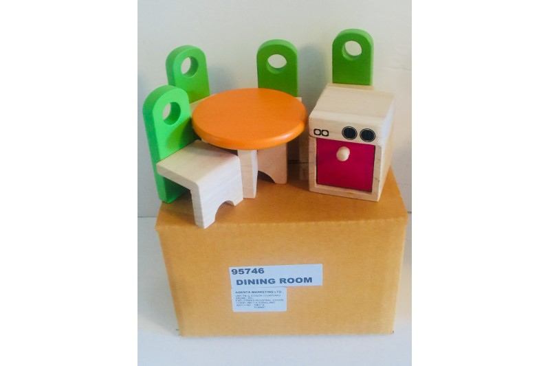 Doll House Wooden Furniture Dining Room 95746